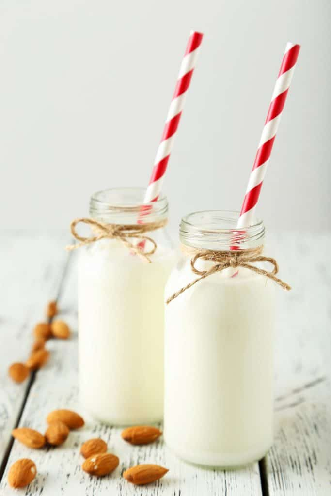 Kefir glasses with straws