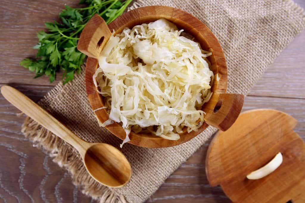 Sauerkraut on the table