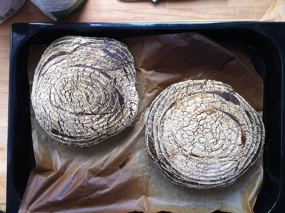 freshly baked sourdough