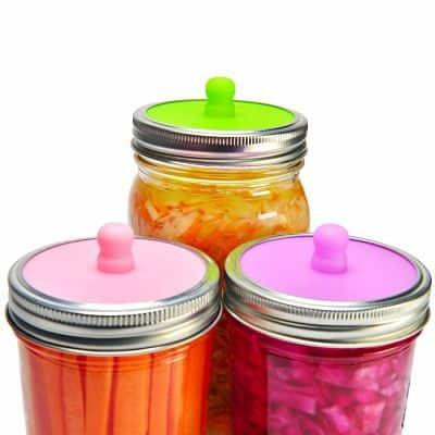 Waterless Airlock Fermentation Lids for Wide Mouth Mason Jars