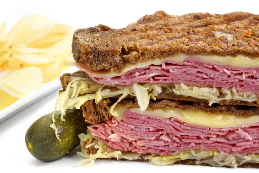 Reuben Sandwich with sauerkraut