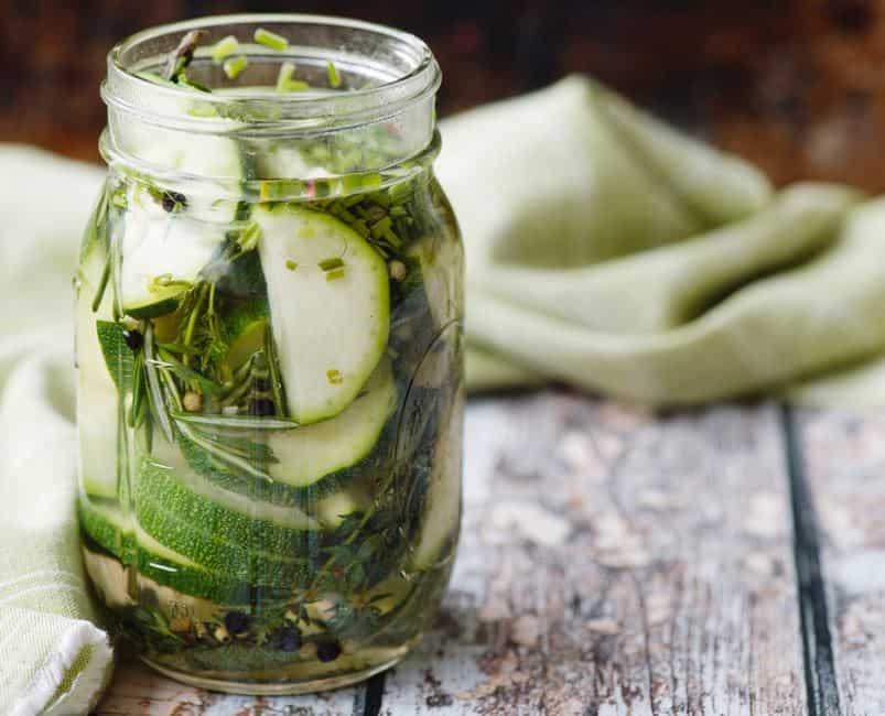 pickled zucchini
