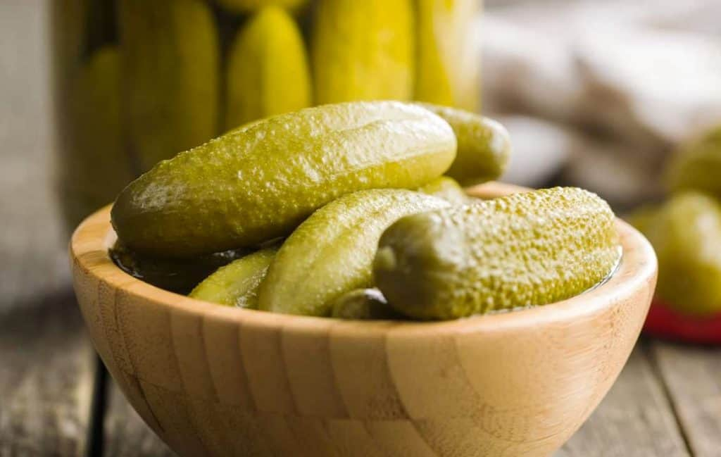 pickles in a bowl